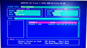 Утилита ASUSTeK EZ Flash 2 BIOS ROM V3.00